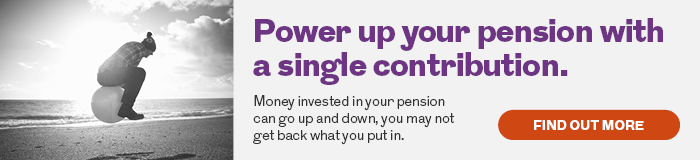 Find out how to power up your pension with a single contribution